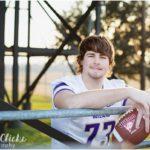 Football Stadium High School Senior Portraits | Holland, TX Photographer