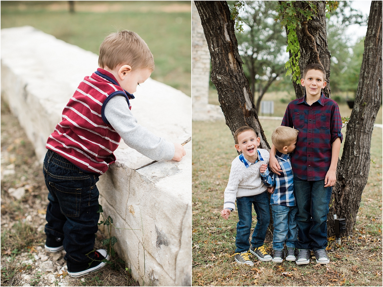 Outdoor Holiday Family Session Cypress TX Photographer Salado College Portraits