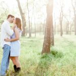 Outdoor Woodsy Engagement Portraits | Katy, TX Photographer