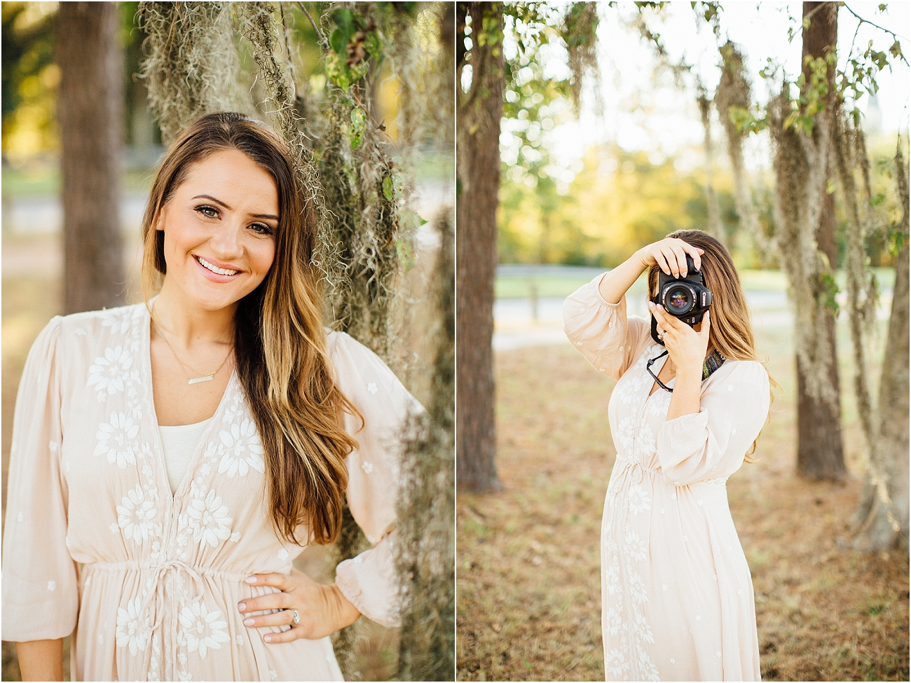 Houston Spring TX Outdoor Senior Portrait Session