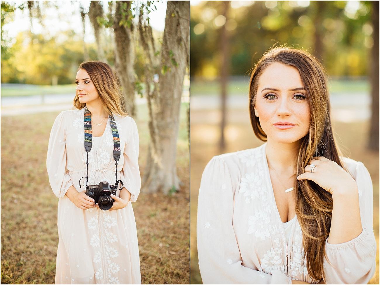 Houston Spring TX Outdoor Senior Portrait Session