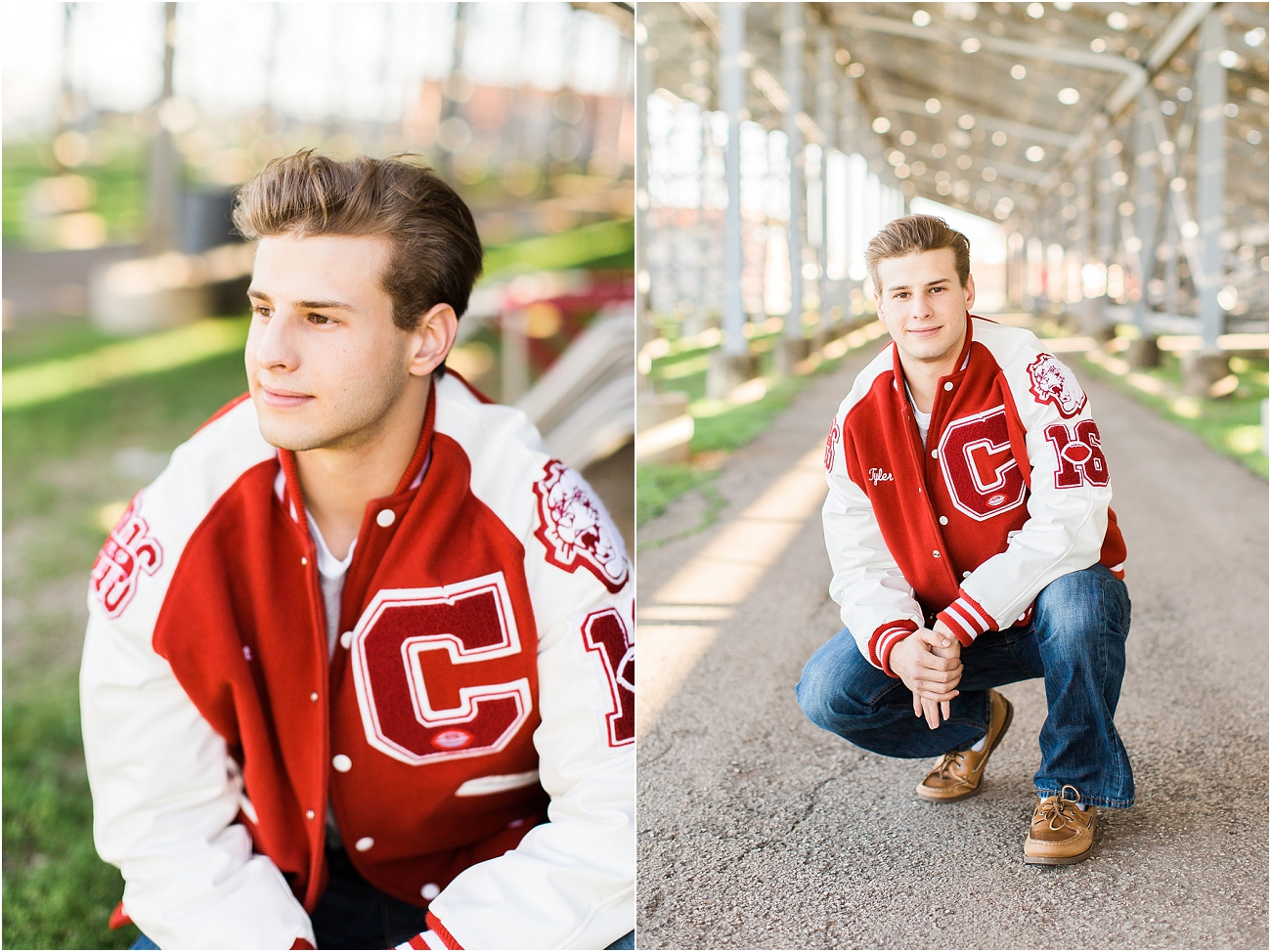 Canyon Cougars Senior Football Session - Houston TX Senior Photography_01