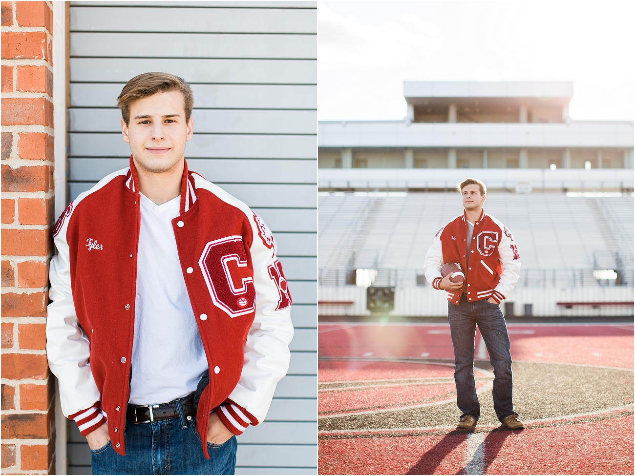 Canyon Cougars Senior Football Session - Houston TX Senior Photography_13