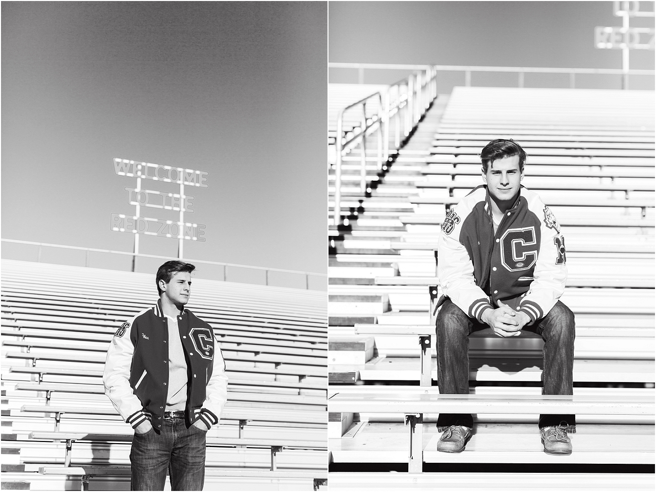 Canyon Cougars Senior Football Session - Houston TX Senior Photography_15